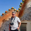 Rustem near the 'dragon's back' on the roof of Casa Battlo.