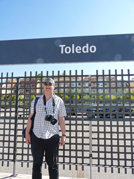 Getting off at Toledo station.