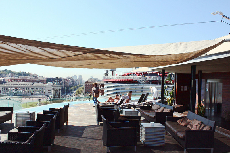 The rooftop of the B Hotel.