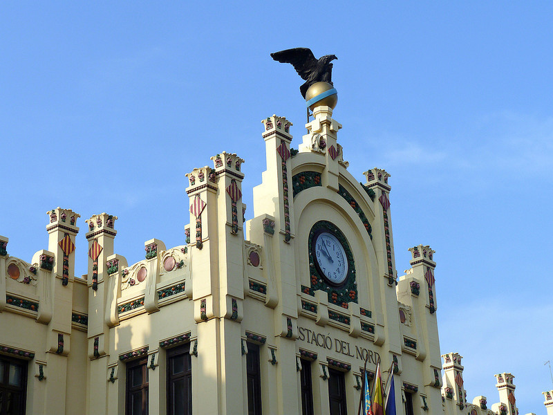 Calles Xativa, one of the two Valencia train stations, built in 1917.