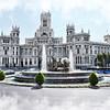 Madrid's Palacio de Telecomunicaciones (Post Office building) in Plaza de Cibeles built in 1909.