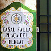 Tiled sign near Valencia's produce market.