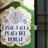 Tiled sign near Valencia's produce market.