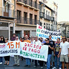 Protesters in Plaza de Zocodover, Toledo.