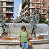 Susan at the Poseidon fountain.