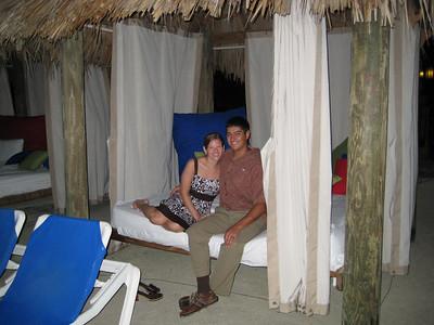 Tiki hut on a deserted island...