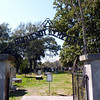 The Huguenot Cemetery was established 1821 for victims of the yellow fever epidemic and non-Catholics.