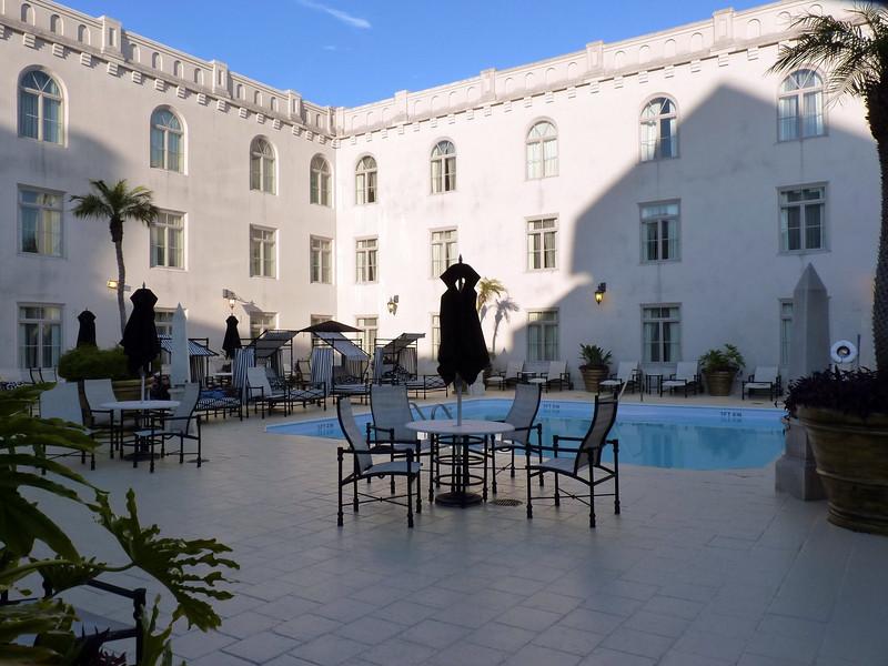 Beautiful pool setting at the Casa Monica Hotel.