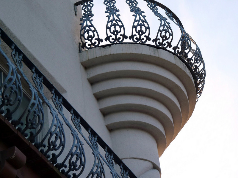 Casa Monica balcony detail.