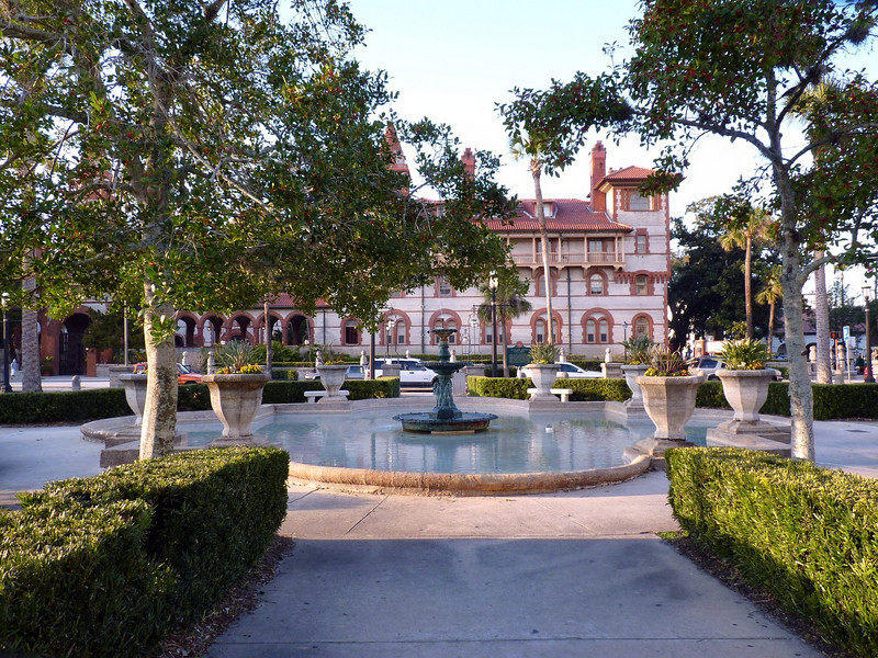 Just outside our doors is this lovely square. Flagler College is in the background.