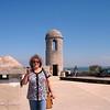Susan atop Castillo de San Marcos.