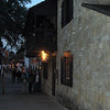 Evening on St. George Street, St. Augustine's pedestrian walk-way.