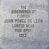 Ponce de León monument signage.