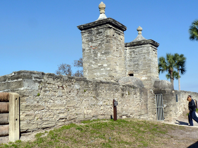St. Augustine's old city gates. St. Augustine used to be an enclosed city & these gates were the only entrance into the city.