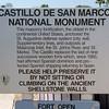 Castillo de San Marcos fort information.