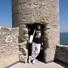 Rustem in one of Castillo de San Marcos' towers.