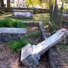Huguenot cemetery vandalism.