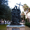 Statue of Father Pedro Camps, spiritual leader of Florida's Minorcan immigrants who arrived in St. Augustine in 1768.