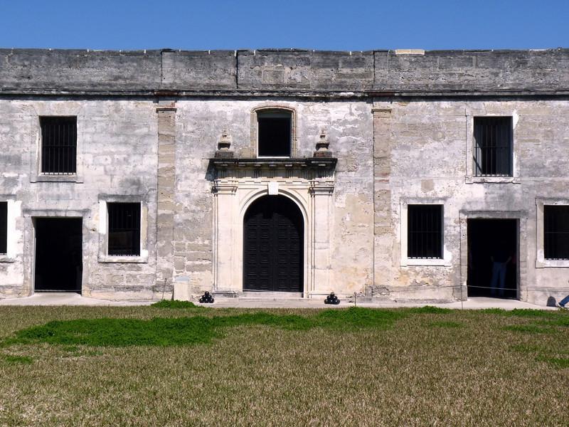 Inside the walls of Castillo de San Marcos.