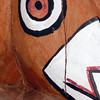 Detail of Dad's totem pole.