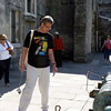 Rustem looking at an old Spanish cannon. Castillo de San Marcos.