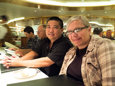 Our first dinner on the ship