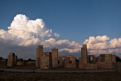 The Stonehenge replica is located on the campus of the University of Texas of the Permian Basin in Odessa in Ector County, Texas. About 20 stone blocks, similar in size, shape, and appearance to the ancient Stonehenge in southwestern England, were unveiled in the summer of 2004. The replica matches the original Stonehenge horizontally, but it falls some 14% short in height from the English monument. The tallest stone on the original is 22 feet, while the highest in the Odessa version is 19 feet.