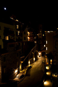 View from the balcony at night.