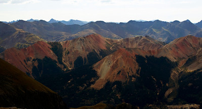 View at the top of the mountain, just over 13,000 feet.
