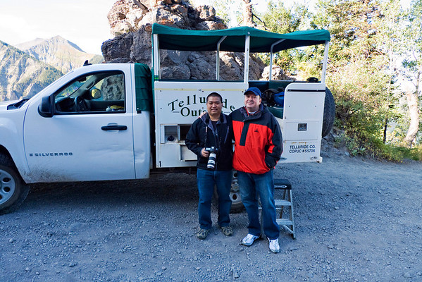 Todd and Tony on the 4x4 Jeep tour.