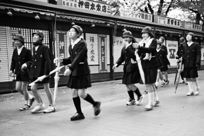 School kids at the Sensoji Temple