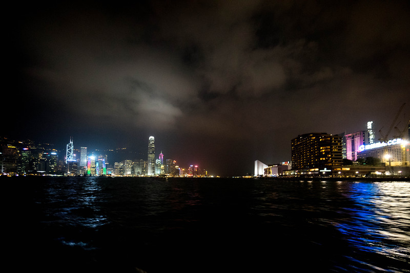 Hong Kong Island on the left, Mainland on the right