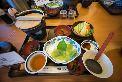 Bad vegetarian lunch at Lake Kawaguchiko