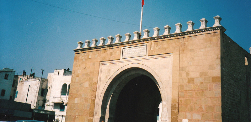 Entrance to the Medina in Tunis. Built during the 7th century, the Median is a UNESCO World Heritage site.