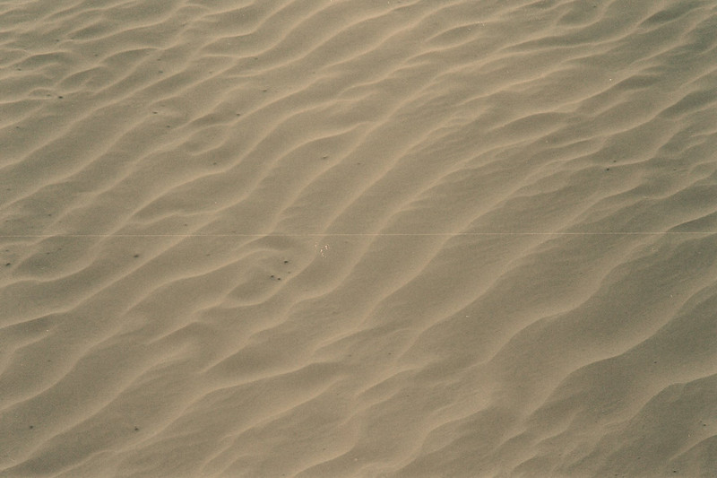 Sand waves. Wherever you look, beautiful patterns of sand and dunes. The sand is ultra-fine.