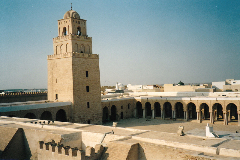 Kairouan Mosque, the 4th holiest place in the Muslim world after Mecca, Medina & Jerusalem.