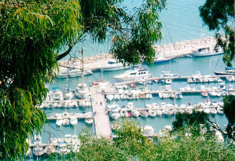 View of Sidi Bou Said marina.