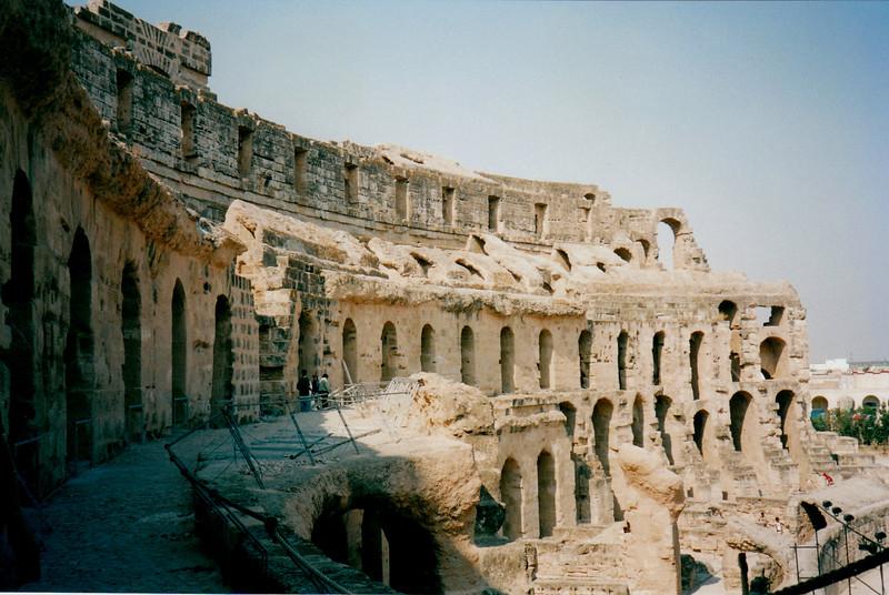 The El Jem coliseum could hold 30,000 spectators.