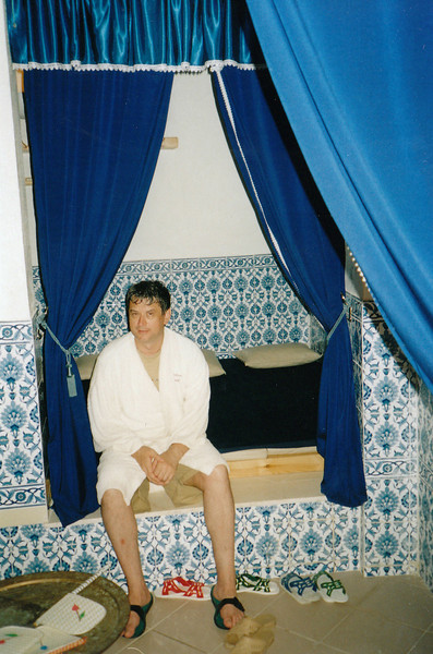 Inside the hammam after our sea algae wraps and massages.
