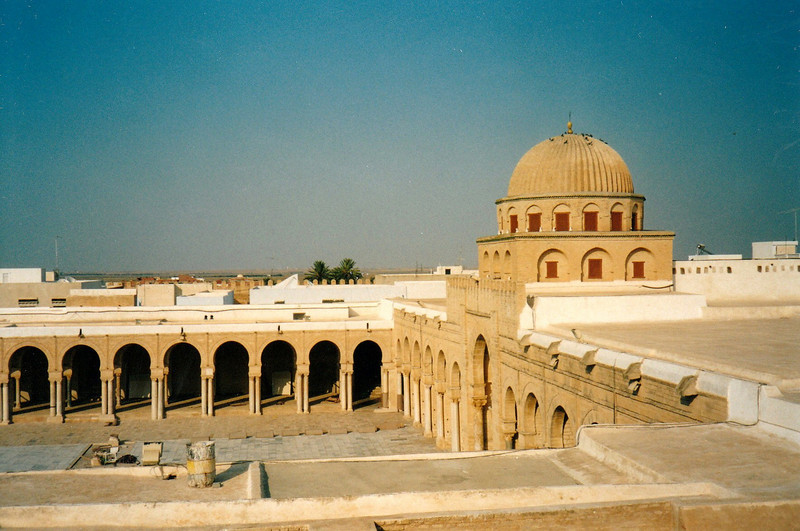 Seven visits to Kairouan = one visit to Mecca. Non-Muslims aren't allowed inside the Mosque.