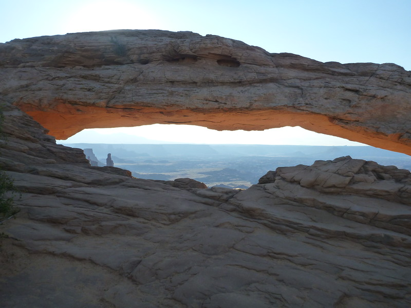 This arch is famous for sunrise photos but we were just a little too late for that.
