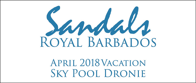 Flying The Drone Out Of The Sky Pool Suite at Sandals Royal Barbados