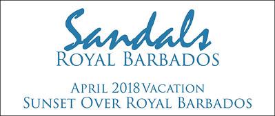 Sunset Over Sandals Royal Barbados in April 2018