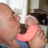 Great Uncle Dean meets Alliya.