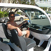 Driving in Key West - an electric car.