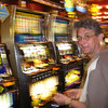 Last evening at the slots – didn't lose much.