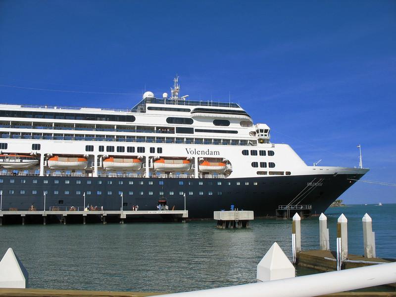 Volendam docked in Key west.