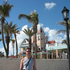 In front of southern-most house in the U.S.A.
