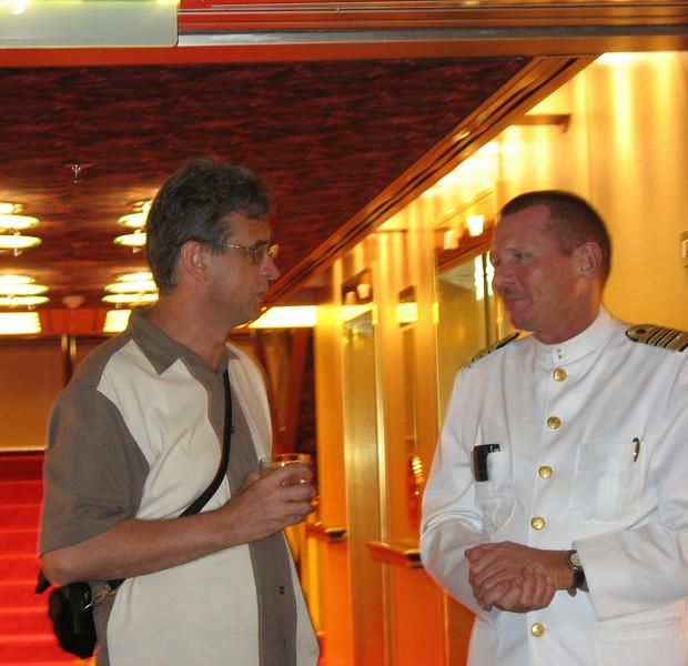 With Captain Van der Zee.