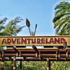 Adventureland Sign: Magic Kingdom